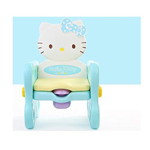 LLRDIAN Toilette pour enfants seat siège bébé pour homme et femme toilet toilette pour bébé plus la taille pot enfant st tabouret pour bébé (Couleur : Green)