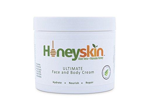 Creme Gesicht und Körper (120 ml) Juckreiz, Ausschlag, Falten, Manuka Honig, Aloe Vera, Kokosnussöl -
