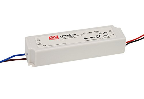 LPV-60-24 60W 24V 2.5A,MEAN WELL, LED Impermeable Cambiar La Fuente De Alimentación ,Converter Para la , El Transformador,Switching Power Supply AC- DC