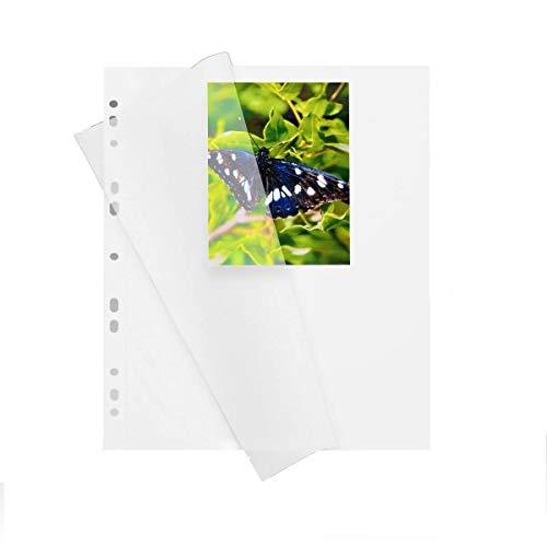 100 Blatt Fotokarton HERMA 7569 weiß mit Pergaminblatt 230x297 mm