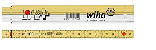 Wiha Longlife Plus Gliedermaßstab, 2 m, metrisch, 10 Glieder (410 2001)