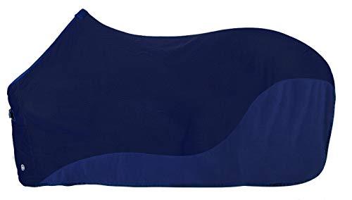PFIFF 102681 Fliegendecke mit Fleece, Insektenschutzdecke Pferdedecke, Blau, 155 cm