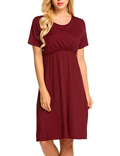 Umstandskleid Elegant Lang Stillkleid Festlich Knielang Schwangerschafts Kleid Umstandspyjama - 4