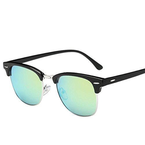 Classic Vintage Sonnenbrille,Ronamick Herren und Damen Fahren Sonnenbrille mit markantem Halbrahmen (F)