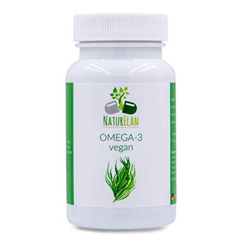 Omega 3 vegano, sin aceite de pescado, aceite de algas - 60 cápsulas, 40% de DHA (250 mg de DHA...