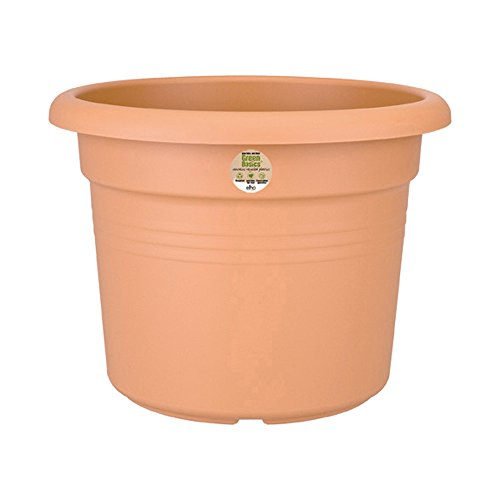 elho green basics cilinder 80cm Blumentopf - mild tonrot