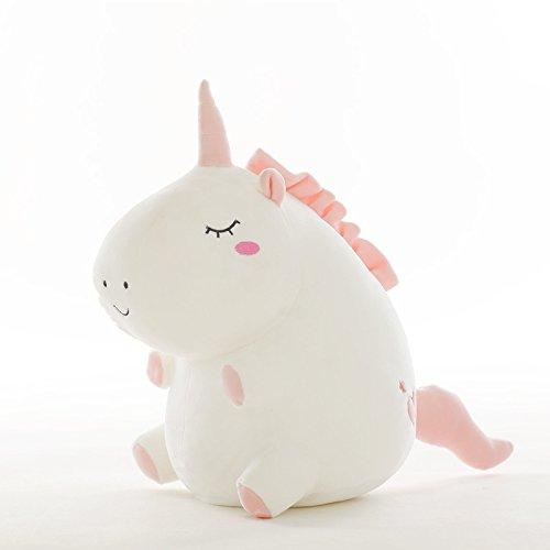 Mjia pillow abbracciare cuscino peluche morbido bambini sleeping comfort cuscino giocattolo,bambola di peluche in cotone animale,regalo di san valentino,bianco,55cm