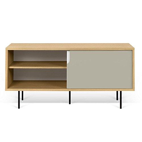 Paris Prix - Temahome - Meuble TV Design dann 135cm Chêne & Gris Mat