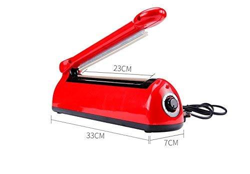 FKJ Saldatrice Per Sigillare I Sacchetti, Macchina Sigillante A Caldo Sigilla Buste Sacchetti Sigillatrice Plastica,Red