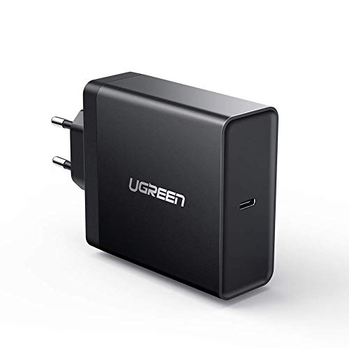 UGREEN USB C Netzteil 65W Power Delivery USB Typ C Netzteil USB C Ladegerät unterstützt für Laptop wie MacBook Pro2017/2018/2019, MacBook, Mi Notebook Air, MateBook X, HP Spectre x360, Lenovo Yoga usw High Power Usb