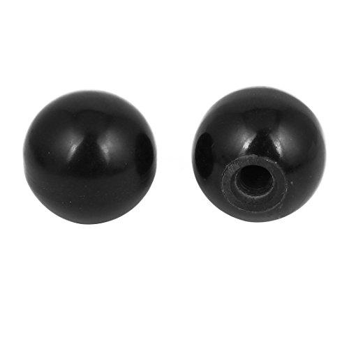 2PCS Eingefädelt Knopf 40mm Durchmesser 9mm Bohrung Maschine Betrieb Kugelknöpfe