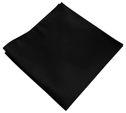Helido Elegantes Herren-Einstecktuch, von Hand genäht, vielseitig kombinierbar (Schwarz) -