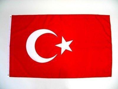 Länderfahne Türkei Türkeifahne 90x150cm Stoff Fahne