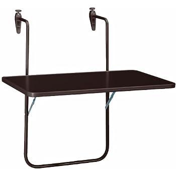 Greemotion table de balcon suspendue toulouse 40 x 60 cm - Table jardin hauteur reglable toulouse ...