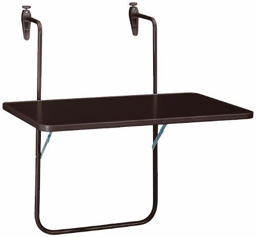 Best Boy Table Suspendue pour Balcon 60 x 40 cm Marron
