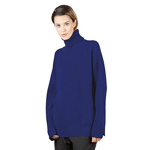 Lambswool Rollkragen (BRUNELLA GORI Pullover Frau Rollkragen Stehkragen Sweater, Jumper, Guernsey 90% Lambswool 10% Cashmere Color Grey Größe S)