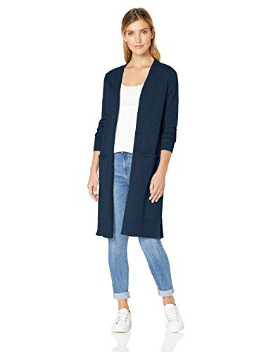 Amazon Essentials Longer Length Cardigan Strickjacke Blau (Navy NAV) Medium