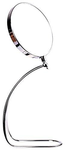 HIMRY Miroir sur Pied grossissement 7 x, 8 inch en Forme de S pour Miroir cosmétique 360 °. chromé Miroir grossissant Miroir Salle de Bain Miroir, côtés : Normal + grossissement 7fach, KXD3109–7 x