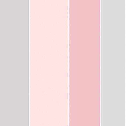 Galerie g67597Smart Streifen 2Tapete, rosa/grau - Galerie-streifen