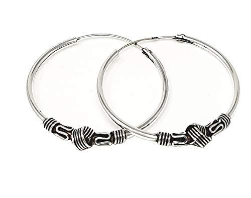 TreasureBay - Pendientes de aro de Plata de Ley 925 para Mujer, Estilo