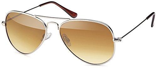 Feinzwirn Sonnenbrille mit Edelstahlrahmen und polarisierten Gläsern - mit Hardcase (braun-Verlauf)