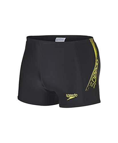 Speedo Herren Badehose Sports Logo Pnl Asht AM Black/Wild Lime