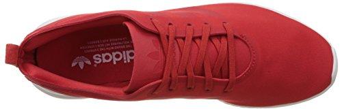 Adidas Originals ZX Flux Smooth - Scarpe da Ginnastica Basse Donna Brown (Lush Red S16-St/Lush Red S16-St/Core White)