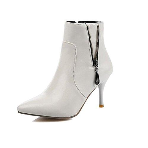 ZQ@QXTipp der Woche für feine mit high-heel Schuhe elegant und vielseitig, eine große Anzahl von Stiefel kurze Stiefel, Weiß 41
