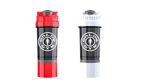 Gold's Gym - Juego 2 botellas mezclador batidora vaso