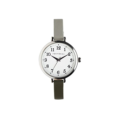 tokyobay-t523-gr-womens-stainless-steel-two-tone-leather-band-white-dial-smart-watch
