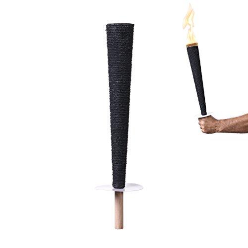 Hussala Diamond Big Flame Wachsfackeln Brennzeit 60 min [10 Stück]
