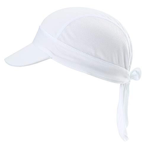 HASAGEI Sports Bandana Kopftuch Hat Herren Damen Stirnbänder Laufen Mütze Fahrrad Helmmütze Piraten Skull Cap (Weiß-B)
