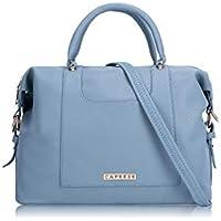 Caprese Women's Satchel (Dull Blue)