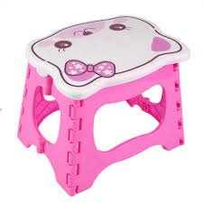 Fishing camping Stool Compact Stool Portable Super Strong Foldable Step Stool Plastic stools for Child Kids 9.8x7x7.8(baby chair)