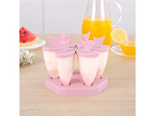 OVVO Tropische Fische EIS am Stiel Formen Kunststoff EIS Lolly Formen Eiswürfelschale (grün) Formen Kuchen Dekorieren Tools (Farbe : Pink, Größe : 14.7x14.7x12.7cm)