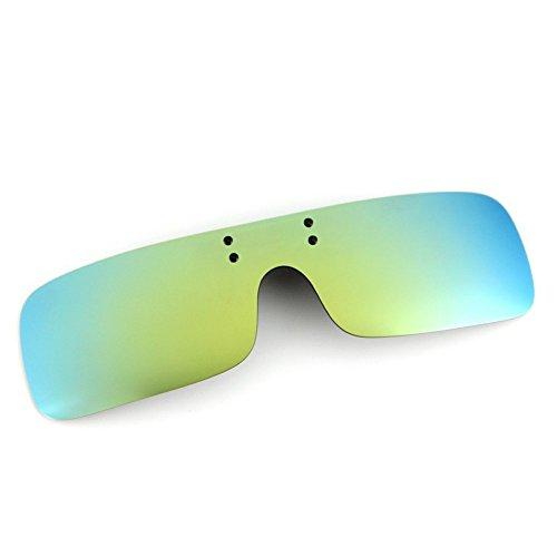 Cyxus (Clip On Sport polarisierte Sonnenbrillen mit winddichtes Spiegel-Objektiv, Männer/Frauen Rimless Outdoor-Schutzbrillen für Ski-Biking Angeln Running Driving Golf (grün) - Grün Frauen-ski-schutzbrillen