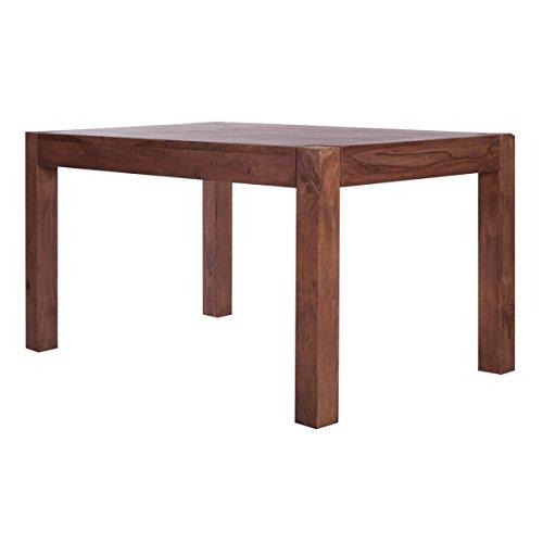 MarkWellMöbel Esstisch Esszimmertisch Wima 180x100, Massivholz Holz Sheesham Natur Massiv, Breite 180 cm, Tiefe 100 cm, Höhe 76 cm