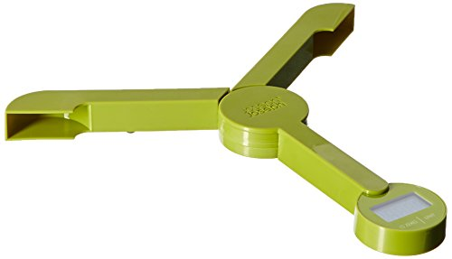 Joseph Joseph triscale ripiegabili LCD bilancia da cucina digitale bilancia elettronica verde 40072. L' immagine sopra mostra la triscale nella posizione di apertura e la chiusura a tenuta stagna, sta acquistando solo uno triscale bilancia da cucina ...