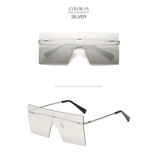 YLNJYJ Rimless Oversized Women Sunglasses Big Frame Shield Sun Glasses Female New Vintage Shades Eyewear