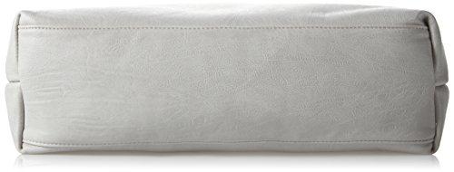 Boscha Damen Shopper Bag Schultertasche, 12 x 37 x 38 cm Grau (Grey)