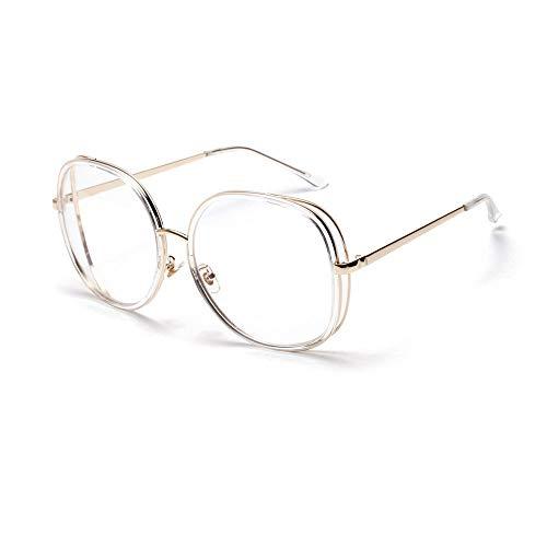 KERVINFENDRIYUN YY4 Vintage Fashion Large Frame Square Sonnenbrillen Fashion Style UV400 für Damen/Herren (Farbe : Transparent)