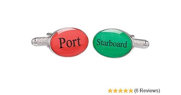 Supplied in Onyx Art Cufflink Box Silver Colour Ship Telegraph Dial Cufflinks