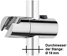 Ew-haustechnik - Soporte universal para barras de ducha de 18 mm de diámetro