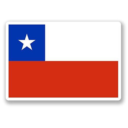 Preisvergleich Produktbild 2 x 10cm/100mm Republik Chile Flagge Vinyl SELBSTKLEBENDE STICKER Aufkleber Laptop reisen Gepäckwagen iPad Zeichen Spaß #4638