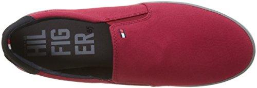 Tommy Hilfiger Herren Iconic Slip On Sneaker Rot (Tango Red 611)
