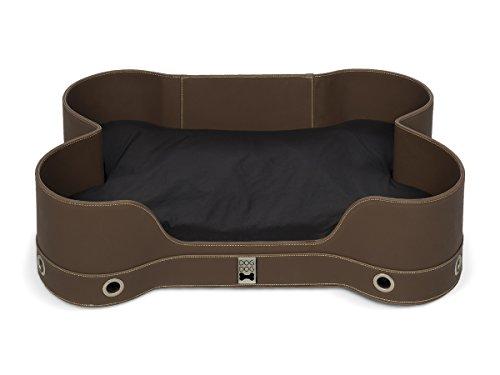 hundeinfo24.de DOGDOG ddbbo-m br Lounge-Bett knochenförmig, M, braun