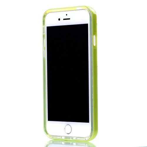 Custodia iPhone 7 , Cozy Hut Cover iPhone 7 Silicone Trasparente TPU Flessibile Sottile Bumper Case per Apple iPhone 7 Ultra Sottile Anti Graffi Silicone Cover Protettivo Pelle Guscio Paraurti Copertu Plumeria farfalla