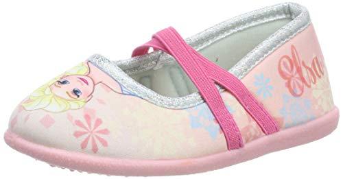 Die Eiskönigin Mädchen Girls Kids Ballerina Houseshoes Niedrige Hausschuhe, (Pink Pnk), 26 EU