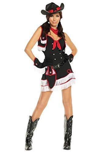 Bodysocks® Wilden Westen Cowgirl Kostüm für Damen (Damen Kostüm Cowgirl)