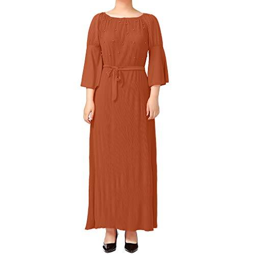 FeiBeauty Frauen Muslimische Kleider Feste Schals Arabien Islamische Gebet Kleid Muslimische Kleidung Hijab Kleider Frauen Muslim Bat's-Flügelhülsen Kleid Hijab (Schal Gebet Orange)